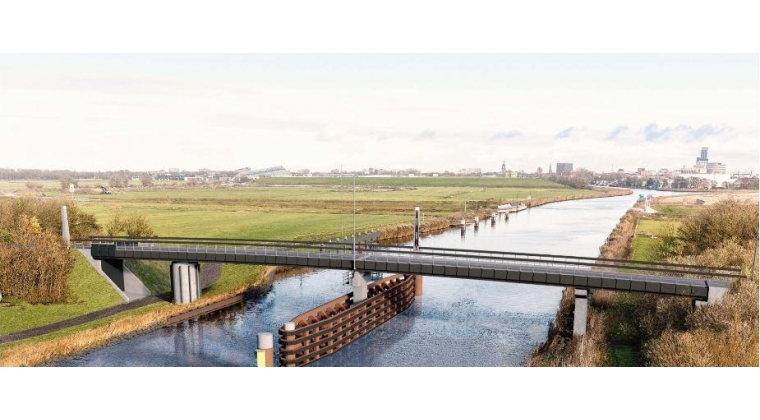 Biobased fietsbrug in Friesland in de maak